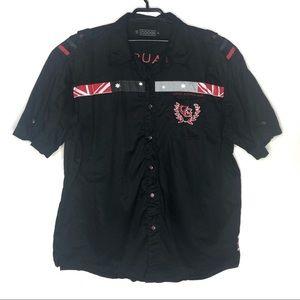COOGI (4XL) Black Australia Coat of Arms Shirt